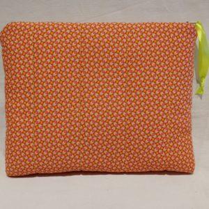 housse tablette orange création Béarn